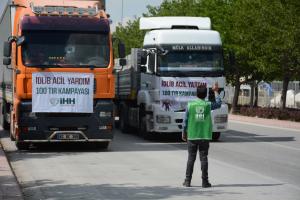 İdlib'e 25 TIR briket yardımı