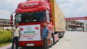 Konya'dan Karadağ'a Ramazan Yardımı
